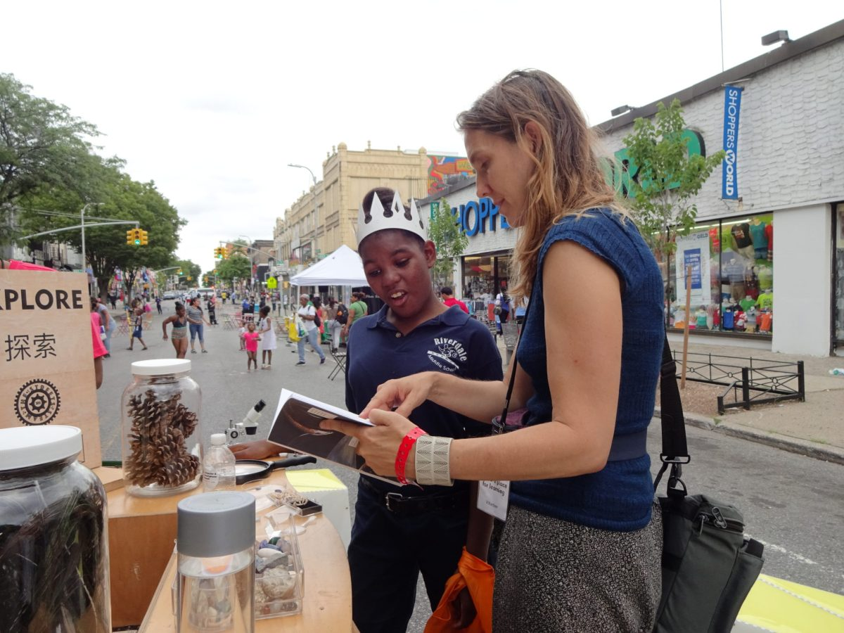 The Uni Project, Leslie Davol, Pitkin Avenue BID, Brooklyn public spaces, outdoor reading room, NYC pop up reading room, summer learning