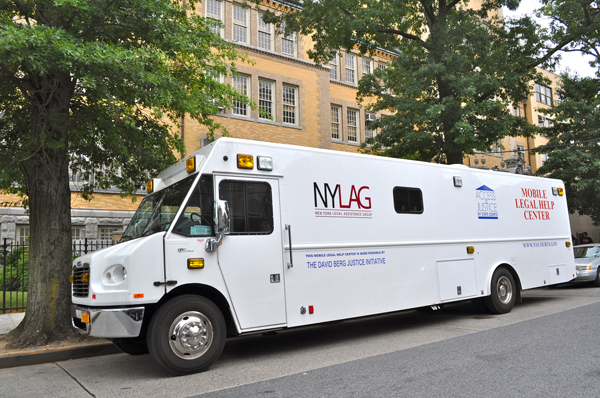 Council Member Jumaane D. Williams, Free Legal Help, New York Legal Assistance Group, The Mobile Legal Help Center