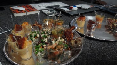 Complimentary food samples provided at the food tasting and launch of Brooklyn Braised