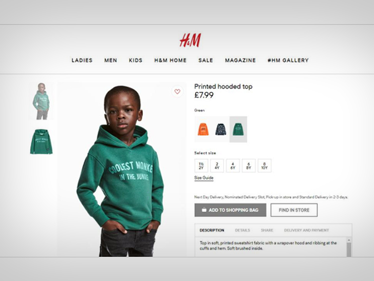 H&M, controversy, land grabbing, racism, coolest monkey in the jungle, editorial, BK Reader