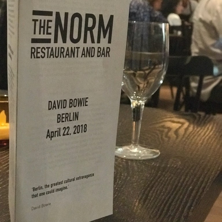 David Bowie Is, The Norm Restaurant and Bar, the Brooklyn Museum, dinner and show, Saul Bolton, Berlin, Great Performances