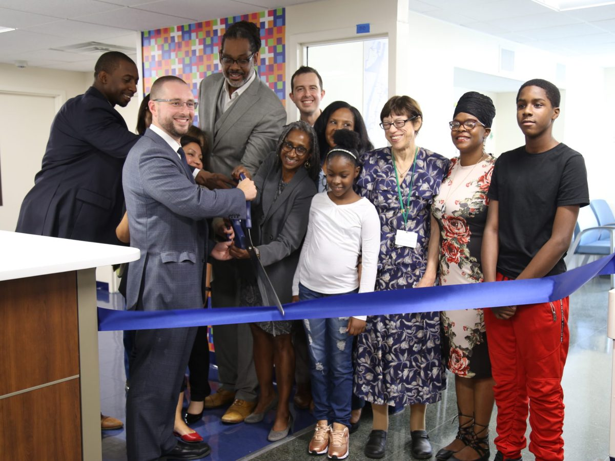 Councilmember Robert Cornegy and Deputy Mayor for Health and Human Services Dr. Herminia Palacio joined representatives of NYC Health + Hospitals for the ribbon cutting ceremony.