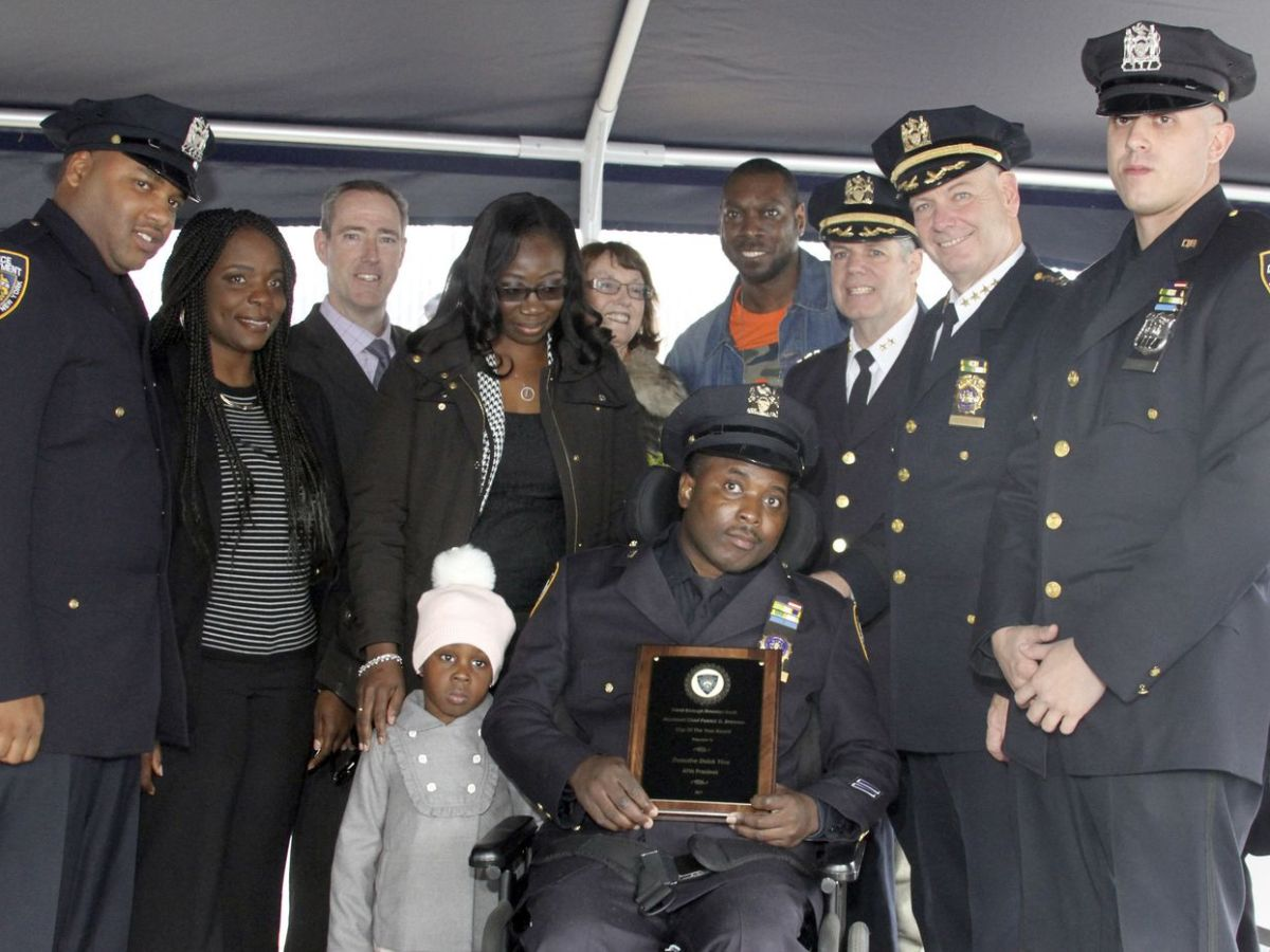 Detective Dalsh Veve was honored in East Flatbush
