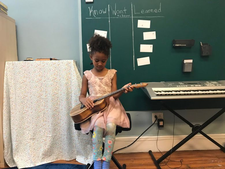 Muse Academy integrates English,Spanish, science, mathematics and humanities with daily instruction in music, dance and dramatic play.
