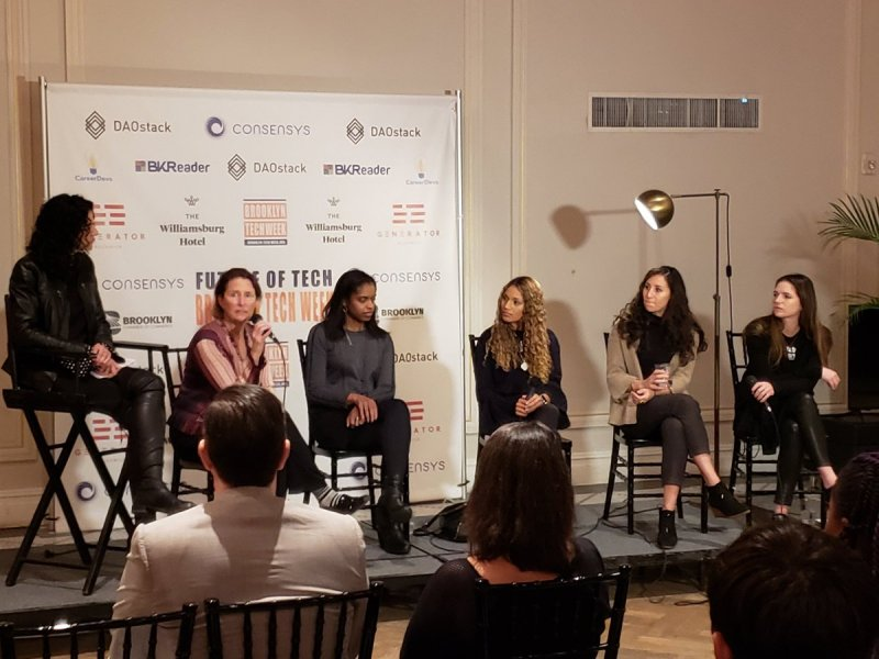 Female techies and entrepreneurs gathered to share their experiences in the male-dominated world of tech