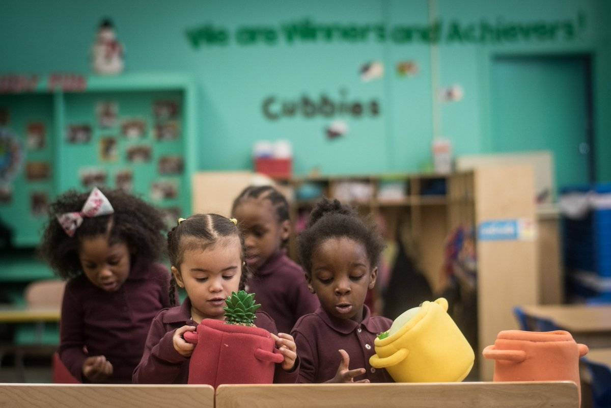 The program offers universal, free, full-day, early childhood education for three-year-olds; applications open early February.