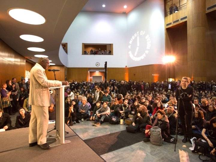 The free 12-hour think fest features philosophical debate, performances, screenings and music by more than 60 philosophers and performers from around the world.