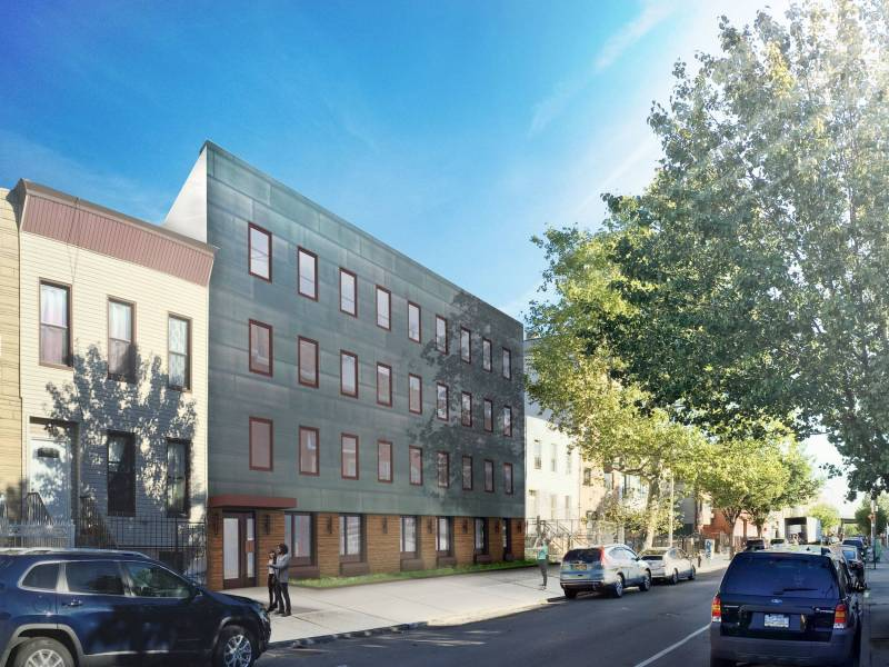 The estimated monthly rents for the apartments at 63 Stockholm Street will range between $524 to $1,749.
