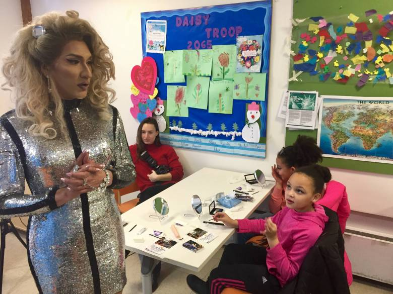 The kids received free makeup, beauty instruction and some quality time with drag queen Cholula Lemon.