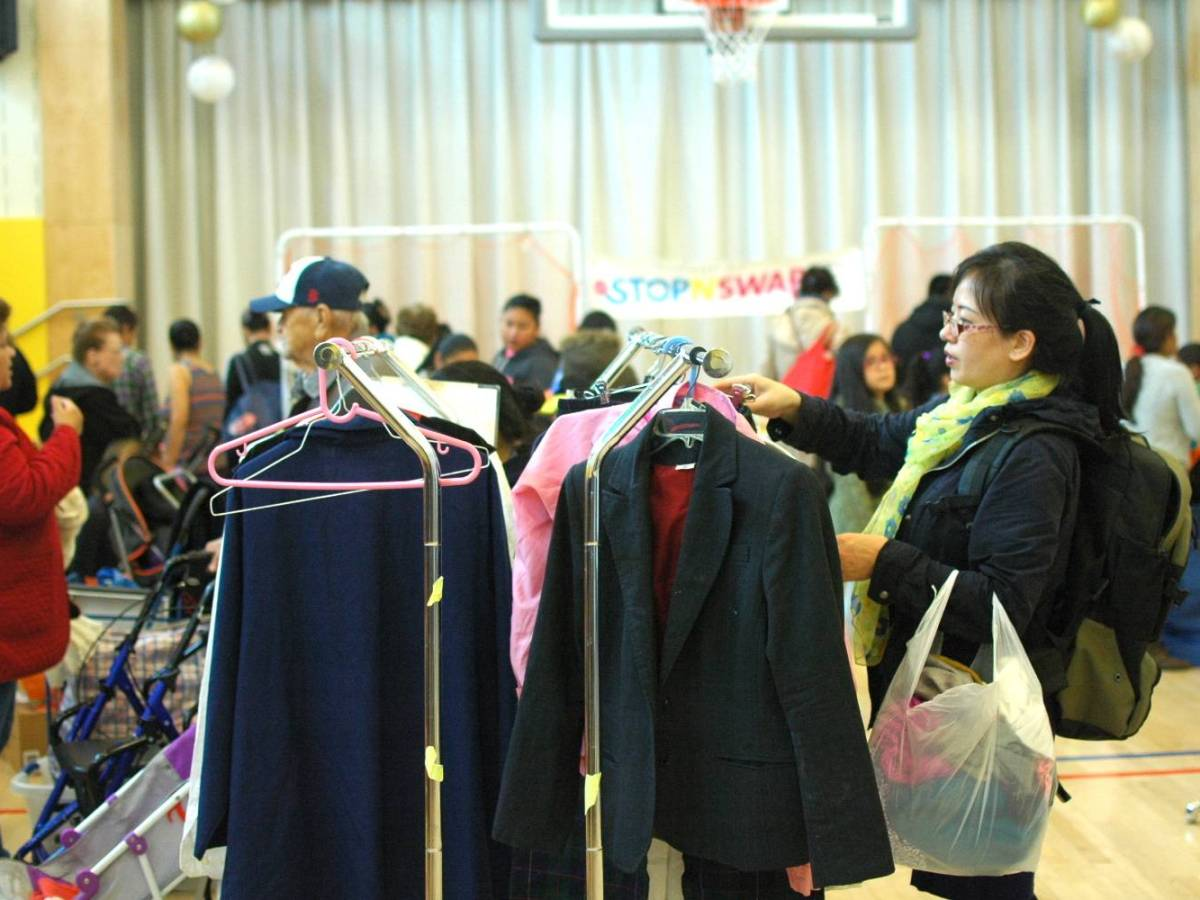 Brooklynites can treasure hunt at GrowNYC's free Stop 'N' Swap reuse event event while helping to reduce and prevent the waste that comes with buying new stuff