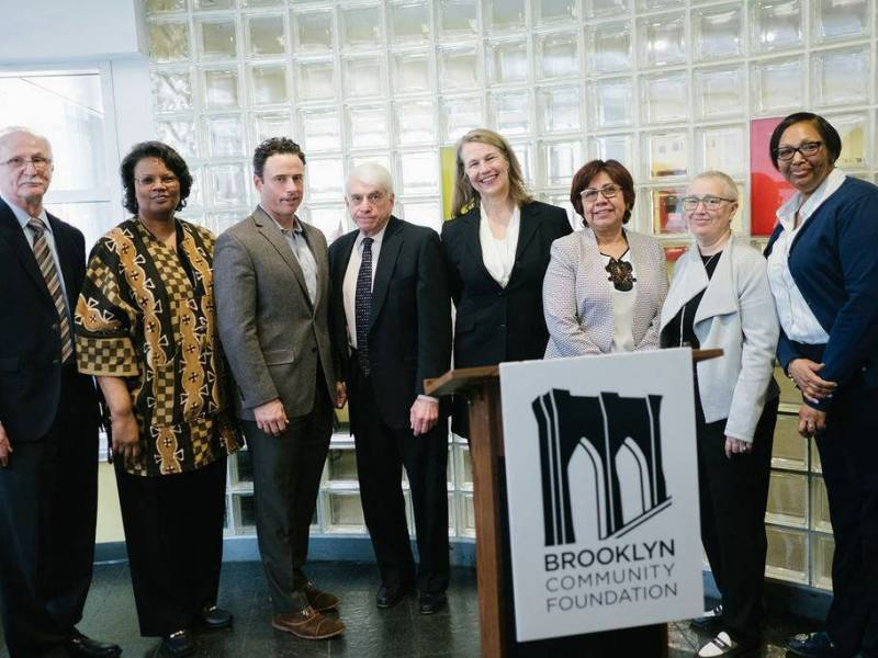 BCF President and CEO Cecilia Clarke (center) announced on Wednesday the launch of the Brooklyn Elders Fund.