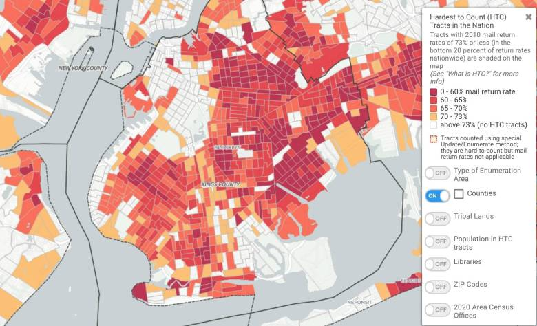 During the 2010 Census, some Black neighborhoods in NYC were among the hardest to count districts in the nation.