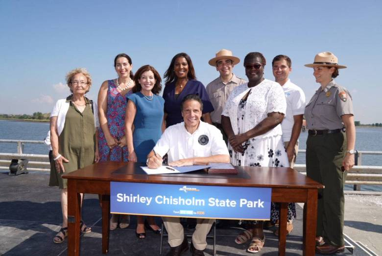 Governor Andrew Cuomo will be allocating $20 million from the state's 2020 Enacted Budget for the Shirley Chisholm State Park in East New York.