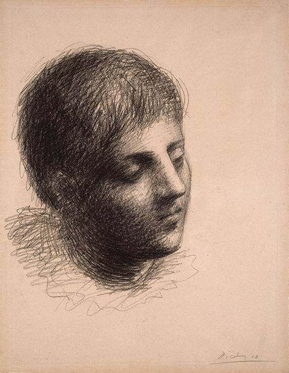 Head of a Young Man / Pablo Picasso.