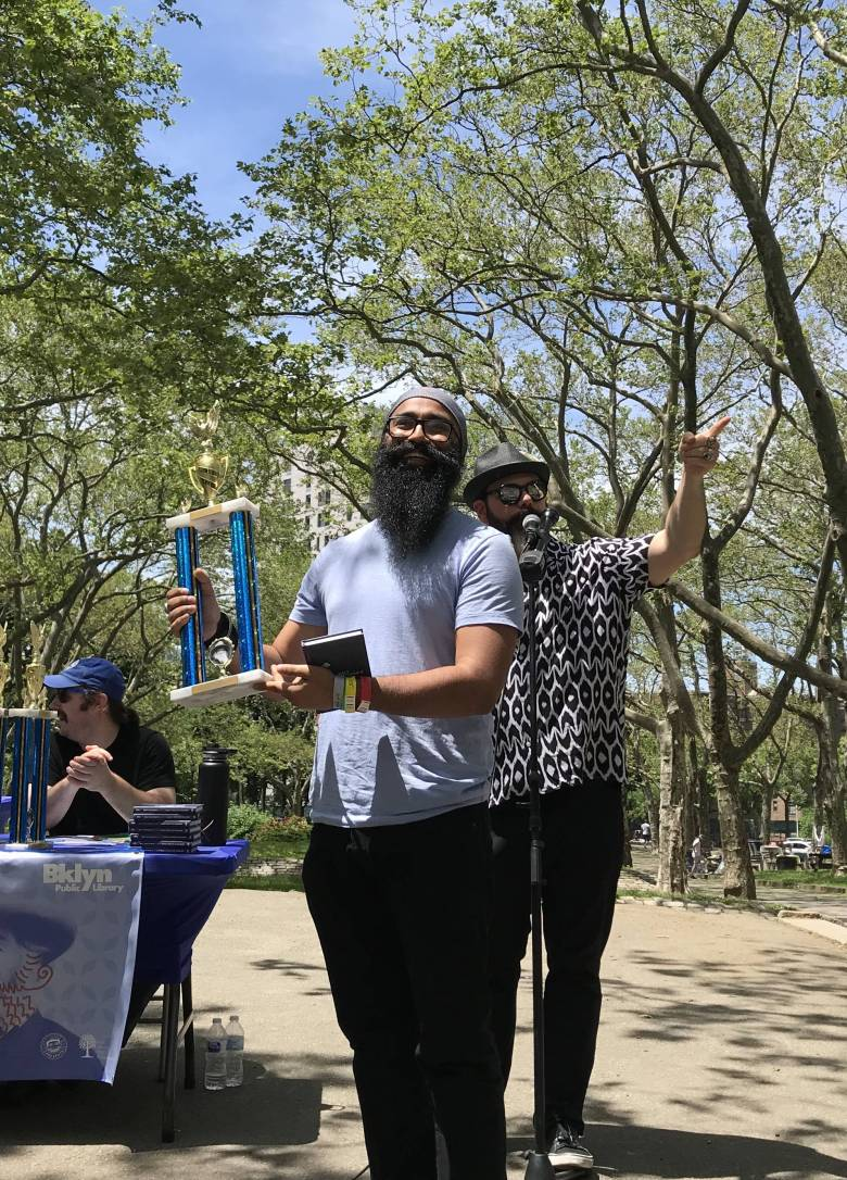 Facial hair enthusiasts of all ages and genders gathered at Fort Greene Park on Saturday for the Walt Whitman Beard and Mustache Competition.