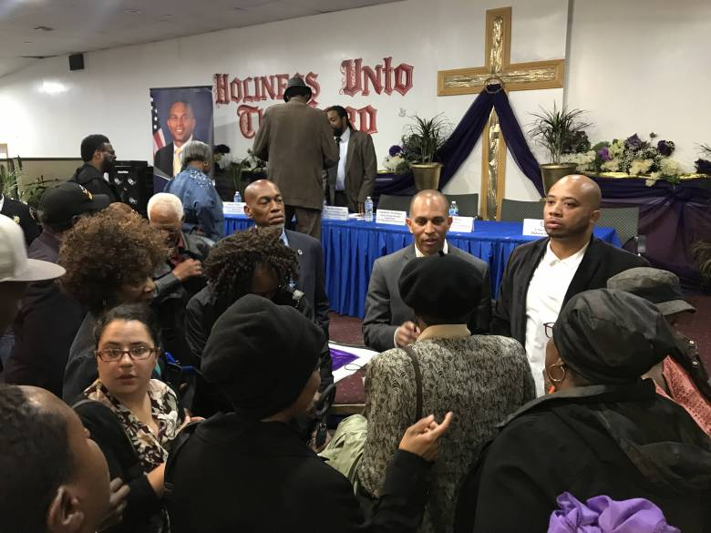 Rep. Hakeem Jeffries gathered city officials to address the concerns, including healthcare, of East New York and Brownsville residents