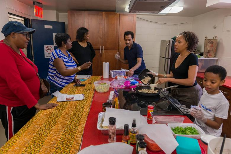 The Brownsville community event featured cooking demonstrations with delicious recipes and scrumptious food samples.
