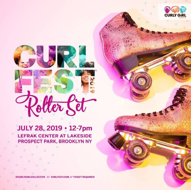 Curlfest, a beautiful, bold celebration of natural hairstyles, returns with a throwback skate party at Prospect Park's LeFrak Center on Sunday, July 28.