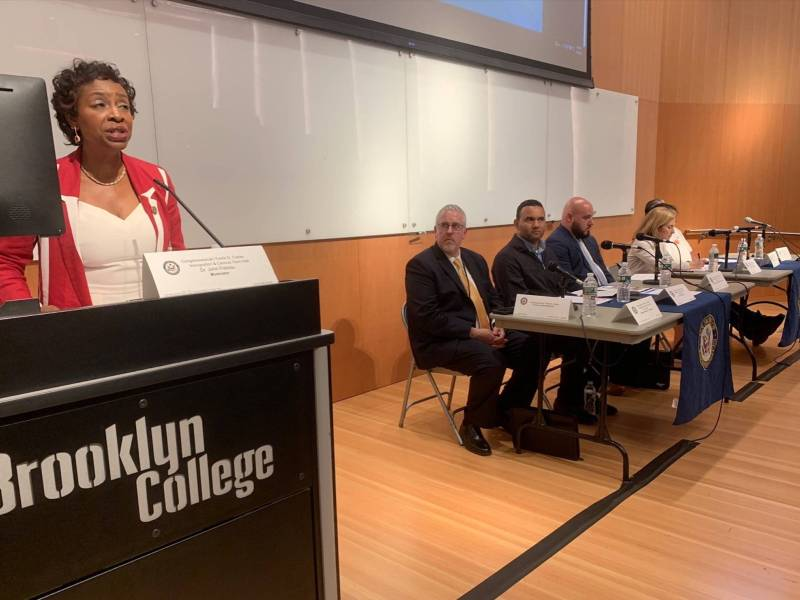 Immigrant rights and the importance of the 2020 Census were in the focus at a town hall convened by Congresswoman Yvette D. Clarke Tuesday night at Brooklyn College.