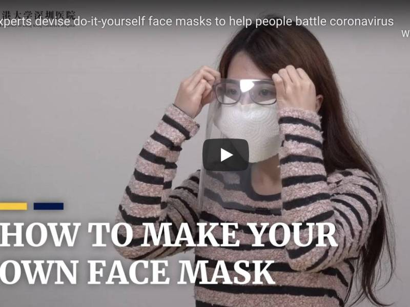 how to to make Your Own protective face mask, DIY, how to, surgical face masks, face mask shortage, DIY