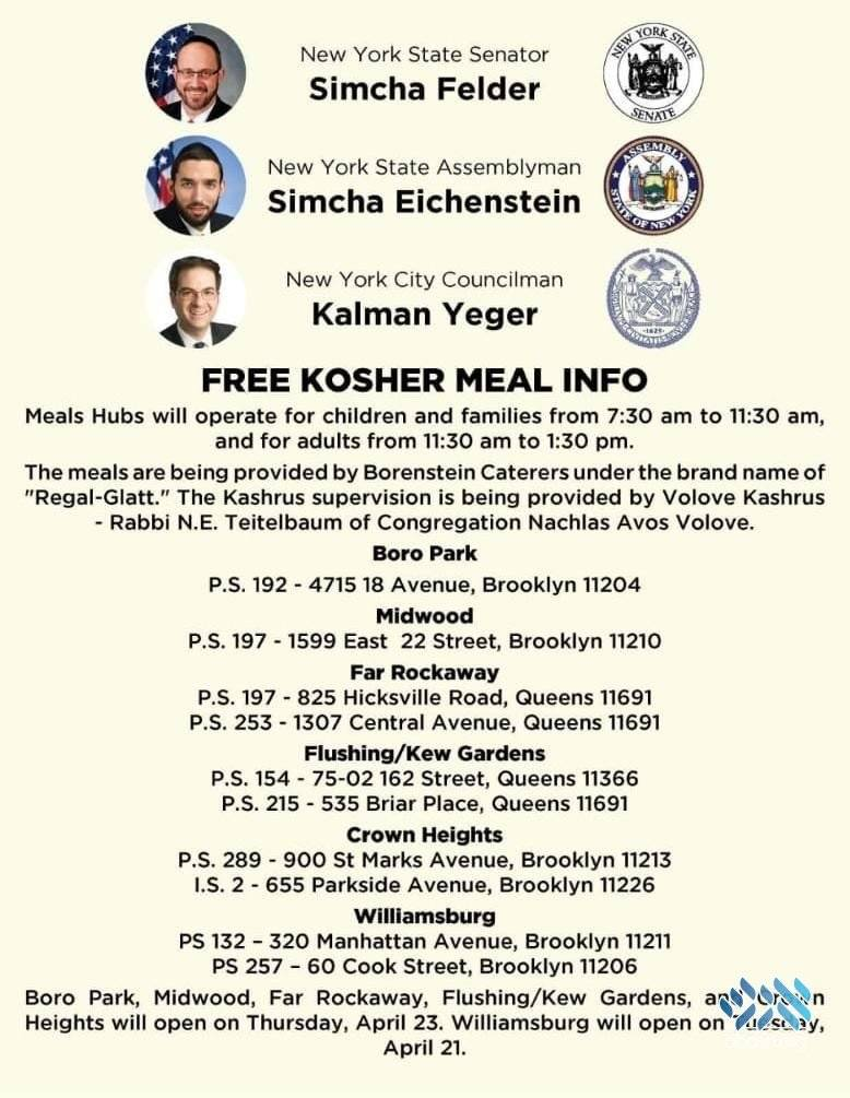 Here is where you can access kosher meals in Brooklyn