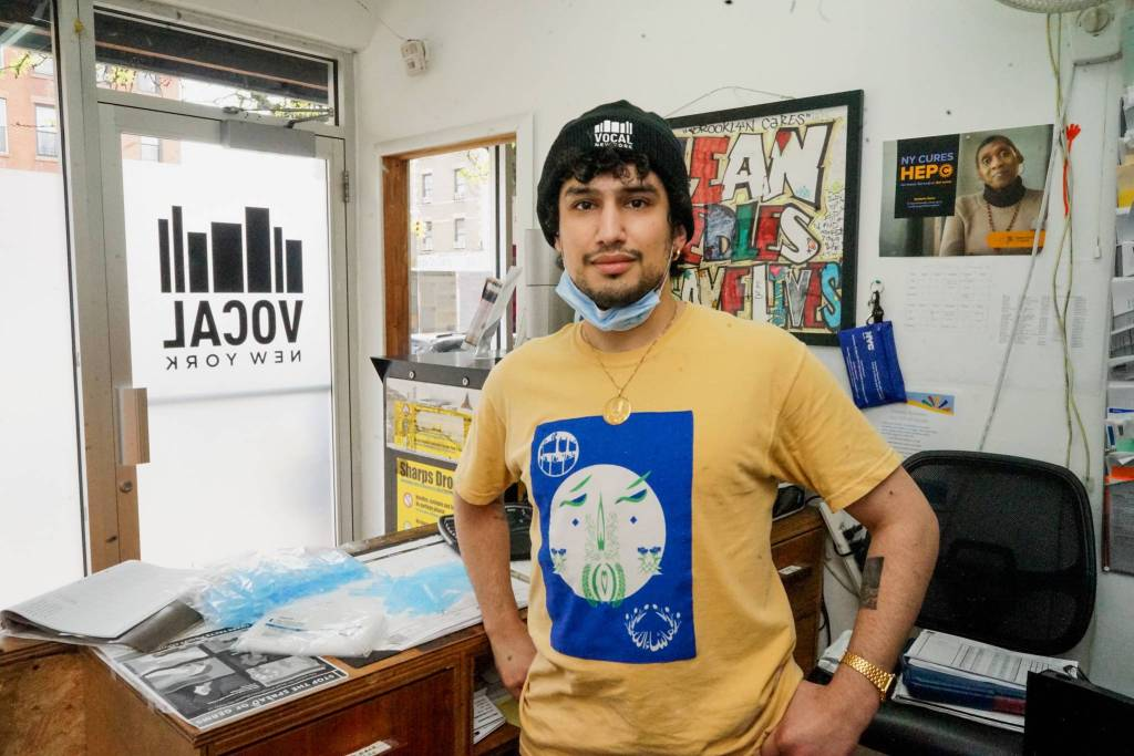 Arash Diba is the director of harm reduction at VOCAL NY, a key part of the organization's service arm. Photo by Russell Frederick.