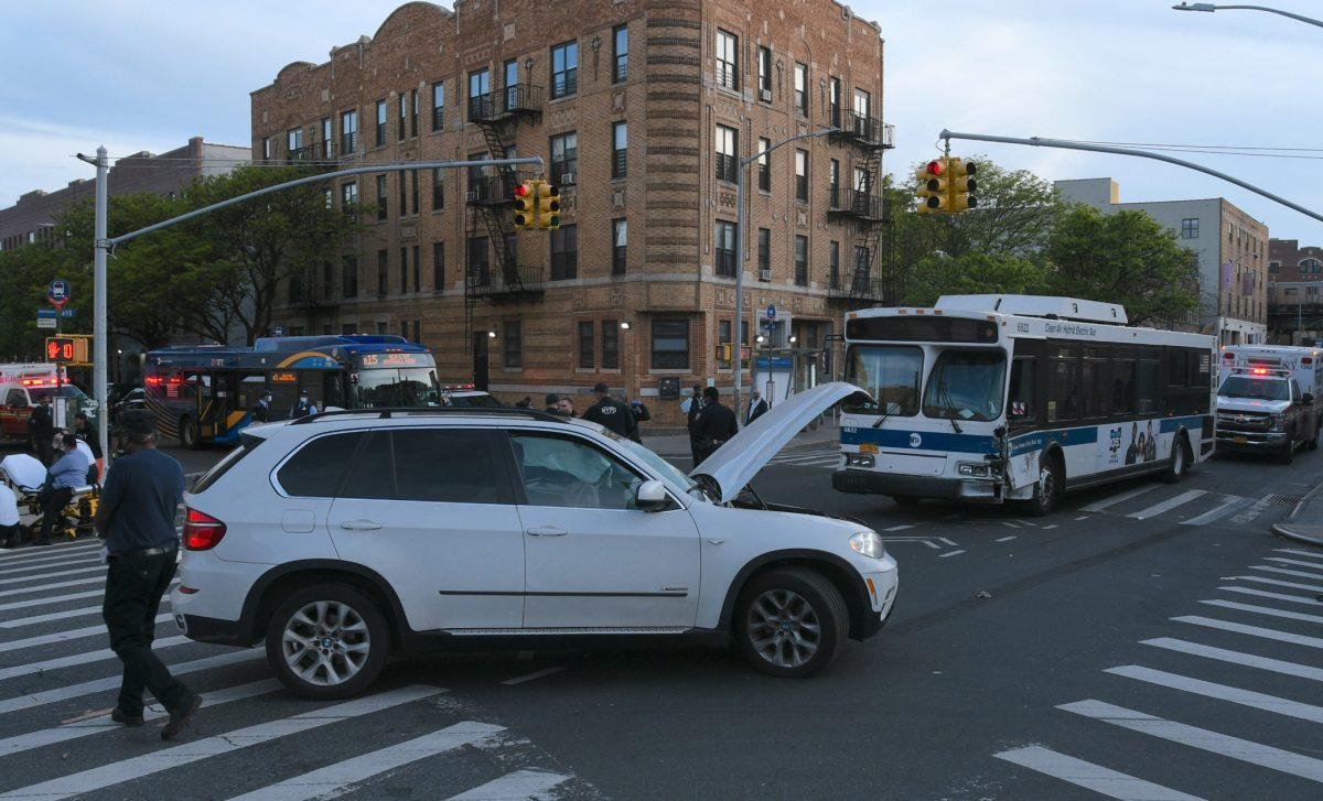 Out-of-control MTA bus rampages through Brooklyn street, leaving 11 injured