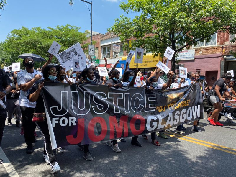 'Helps with the grieving': Musicians and relatives take to the streets to honor slain Brooklyn DJ