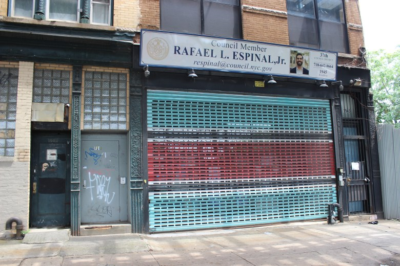 The shuttered District 37 Council Office. Photo: Anna Bradley-Smith for BK Reader.