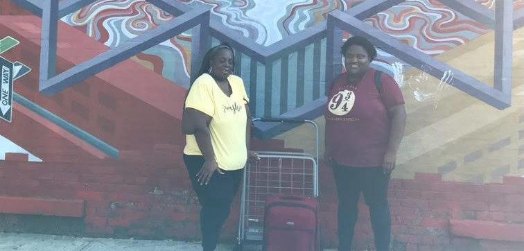 Each week the Sistas Van hands out free supplies to folks in need. Photo courtesy of Black Women's Blueprint.