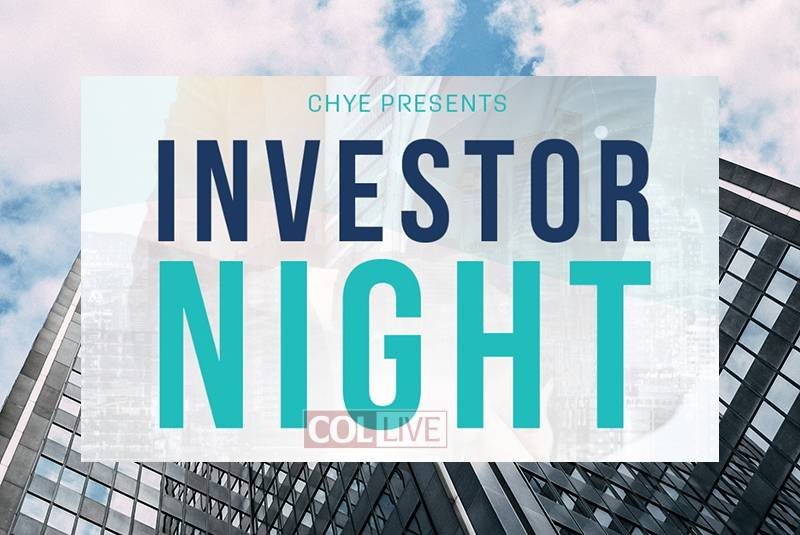 CHYE to Present Investors Event to Help Startups