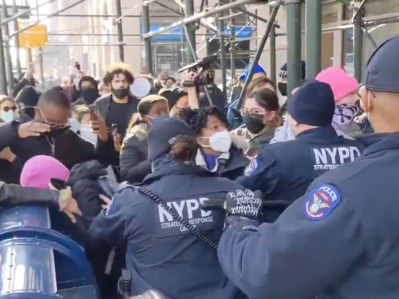 Cops arrest protesters during anti-eviction march in Downtown Brooklyn