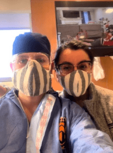 Frontline healthcare workers rocking Mercado Global masks. Photo: Provided.