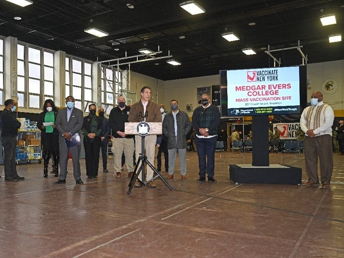 Medgar Evers Vaccine Site Open To All Eligible Brooklynites
