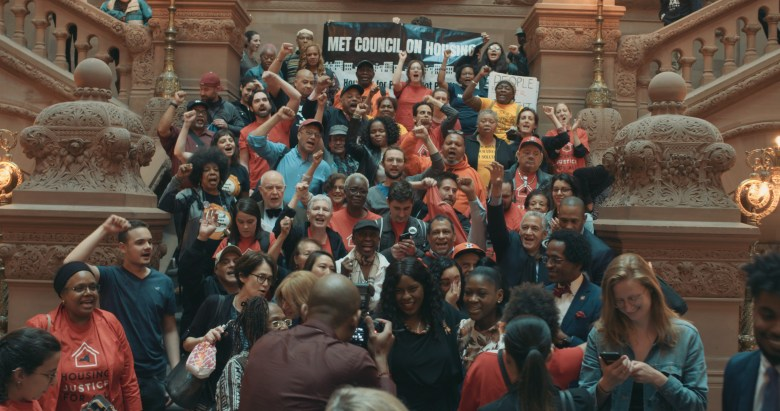 Building solidarity with the Met Council on Housing. Photo: Supplied.