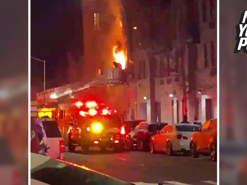 Brooklyn three-alarm fire injures five, including two FDNY firefighters