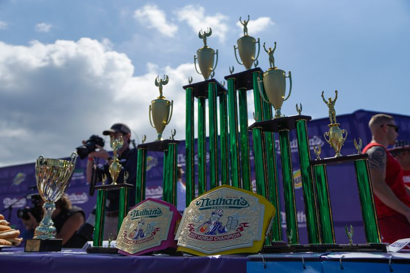 Crowds devour chance to watch and cheer at hot dog eating contest on Coney Island