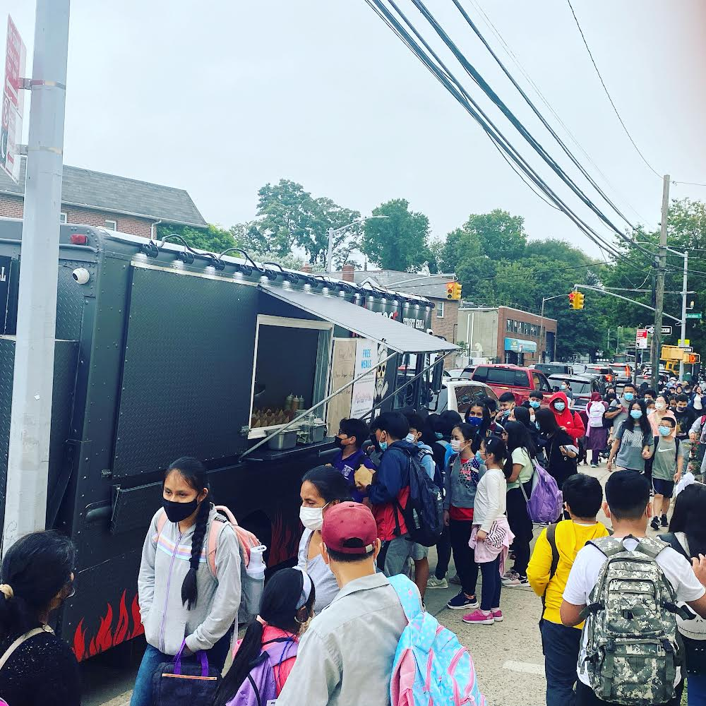 Food Trucks Hand Out Free Meals in Brooklyn for Those Affected by Hurricane Ida
