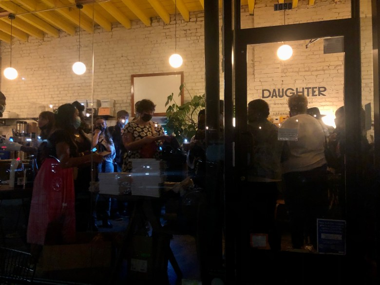 Daughter, a cafe and wine bar with a social cause in Crown Heights. Photo: Miranda Levingston for BK Reader.
