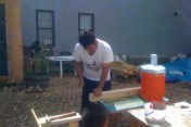 Victor: Our superstar biker and carpenter, Victor, keeps us on track picking up your food scraps weekly.