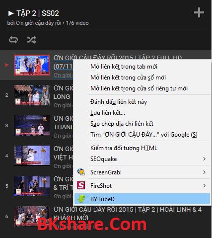 Hướng dẫn tải Playlist Video trên Youtube