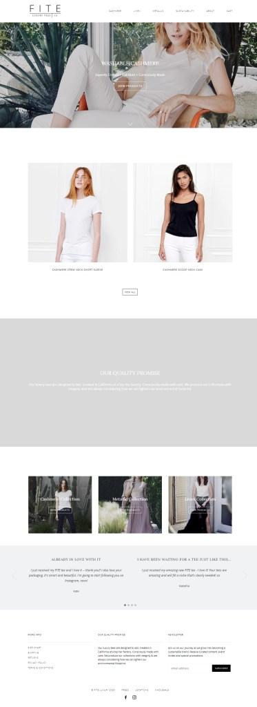 fiteluxury website screenshot