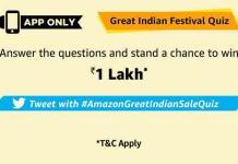 amazon great Indian festival quiz