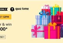 amazon quiz answers today 10000