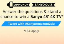 amazon today quiz sanyo 4k tv