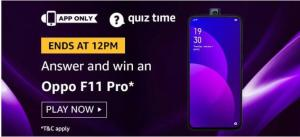 amazon today quiz answers oppo f11 pro