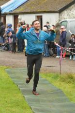 John approaches the finish line of the 2017 Glencoe Marathon. (Craig Pagett)