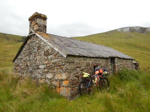 Bikepacking from Inverness to Ullapool, staying at the remote Glen Beag bothy.