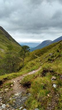Descending towards Fort William after an ascent of Stob Ban in October. (Jenny Gillies)