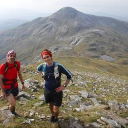 David Gallie (left) and Jonny Muir on the Grey Corries. Picture: Mark Hartree